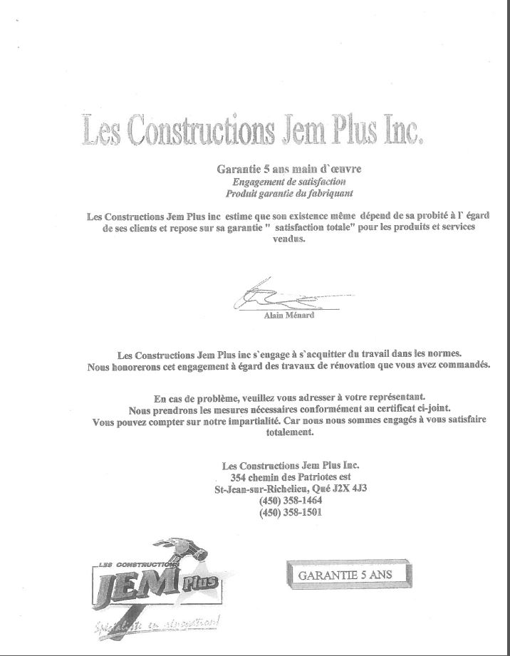 Entreprises certifi es net certification r novation for Garantie construction